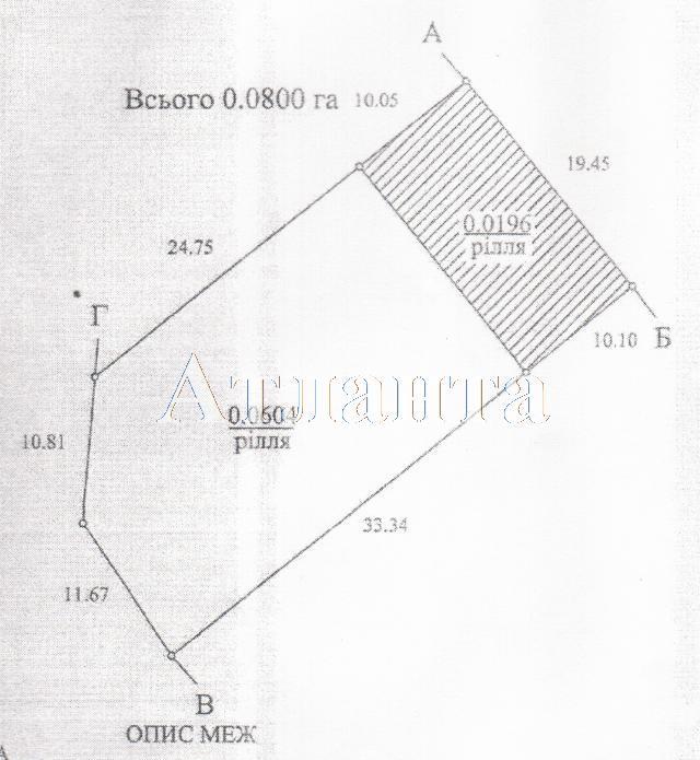 Продается земельный участок на ул. Водяной Пер. — 4 000 у.е.