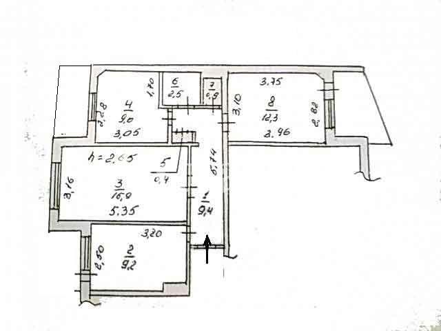 Продается 3-комнатная квартира на ул. Балковская — 35 000 у.е. (фото №3)