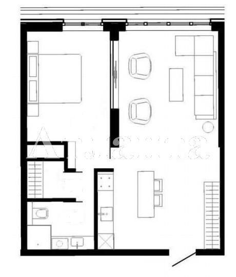 Продается 1-комнатная квартира в новострое на ул. Французский Бул. — 61 600 у.е.