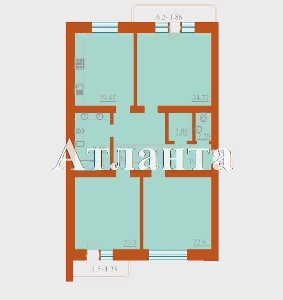 Продается 3-комнатная квартира в новострое на ул. Французский Бул. — 245 000 у.е. (фото №3)