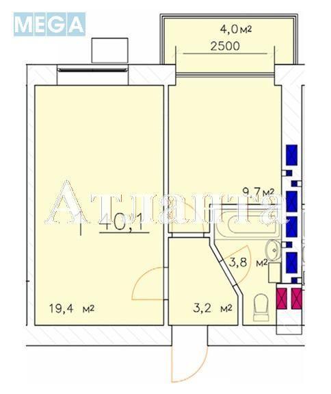 Продается 1-комнатная квартира в новострое на ул. Малиновского Марш. — 46 750 у.е. (фото №3)