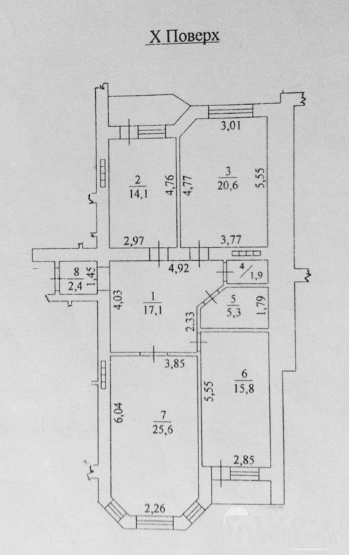Продается 3-комнатная квартира в новострое на ул. Шампанский Пер. — 140 000 у.е. (фото №3)