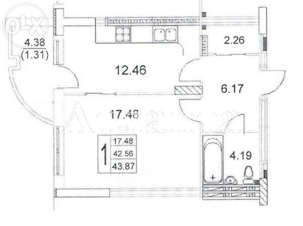 Продается 1-комнатная квартира в новострое на ул. Малиновского Марш. — 38 700 у.е. (фото №5)