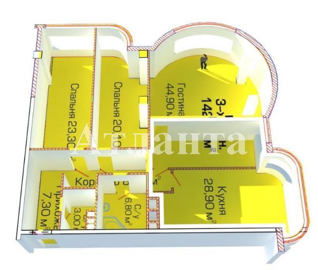 Продается 3-комнатная квартира в новострое на ул. Березовая — 110 000 у.е. (фото №2)