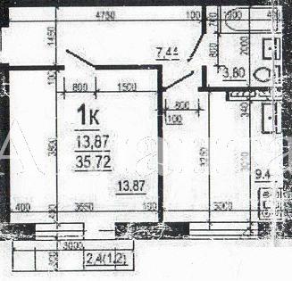 Продается 1-комнатная квартира в новострое на ул. Багрицкого — 31 500 у.е. (фото №2)