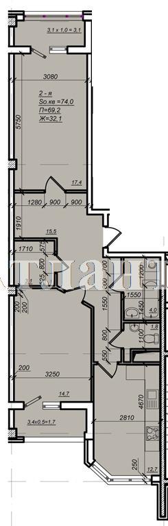 Продается 2-комнатная квартира в новострое на ул. Дюковская — 53 000 у.е. (фото №4)