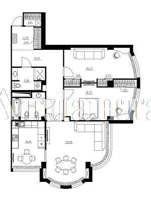 Продается 3-комнатная квартира в новострое на ул. Французский Бул. — 160 000 у.е. (фото №9)