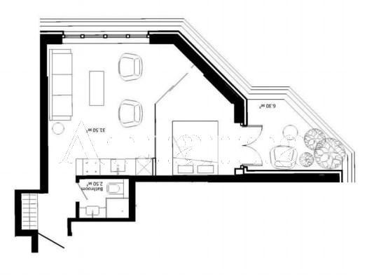 Продается 1-комнатная квартира в новострое на ул. Французский Бул. — 43 000 у.е.