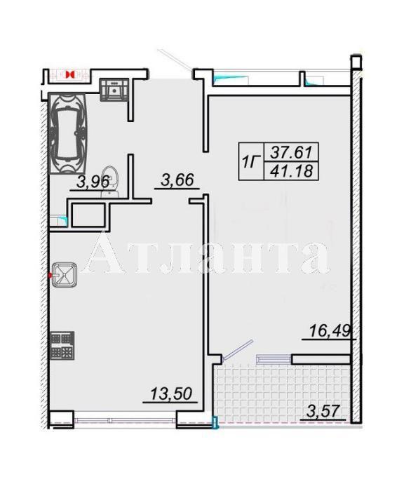 Продается 1-комнатная квартира в новострое на ул. Архитекторская — 35 500 у.е. (фото №3)