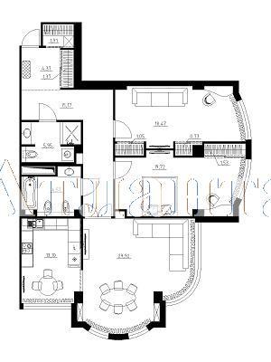 Продается 3-комнатная квартира в новострое на ул. Французский Бул. — 190 000 у.е. (фото №13)