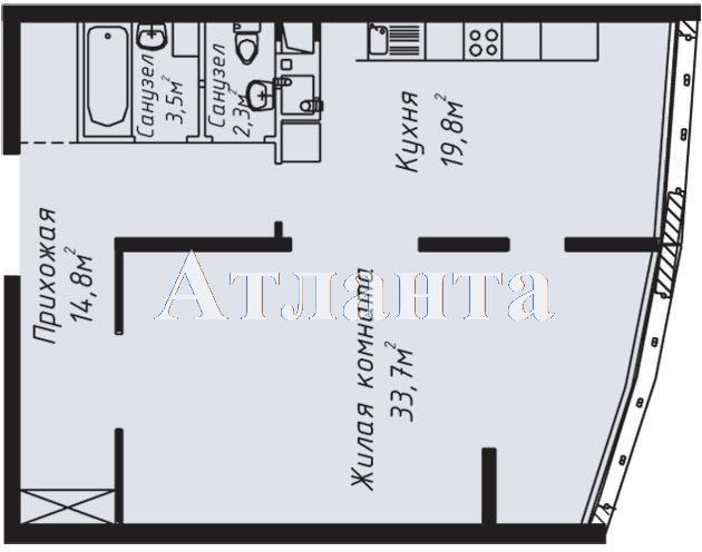 Продается 2-комнатная квартира в новострое на ул. Литературная — 123 000 у.е. (фото №2)