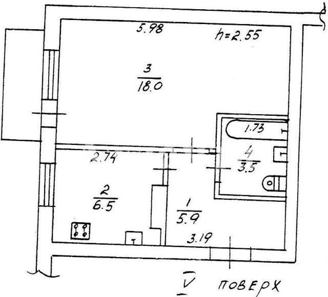 Продается 1-комнатная квартира на ул. Тепличная — 18 000 у.е.