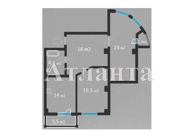 Продается 2-комнатная квартира в новострое на ул. Педагогическая — 68 000 у.е. (фото №12)