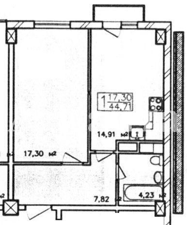 Продается 1-комнатная квартира в новострое на ул. Жемчужная — 49 100 у.е.