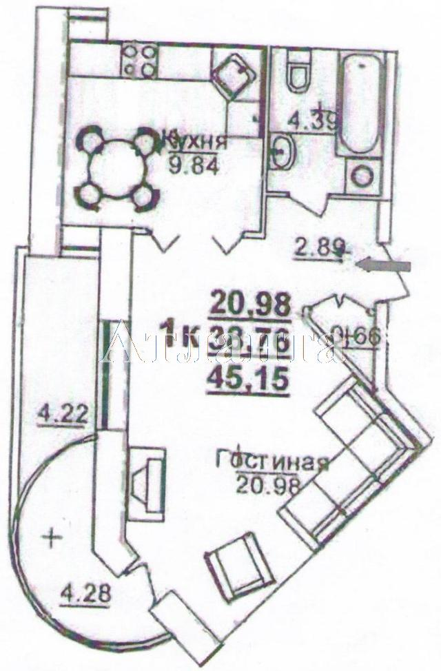 Продается 1-комнатная квартира в новострое на ул. Щепной Пер. — 47 520 у.е. (фото №2)