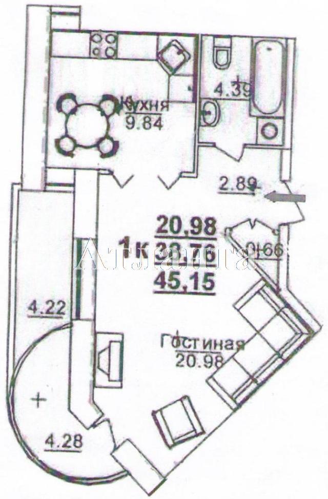 Продается 1-комнатная квартира в новострое на ул. Щепной Пер. — 47 520 у.е.