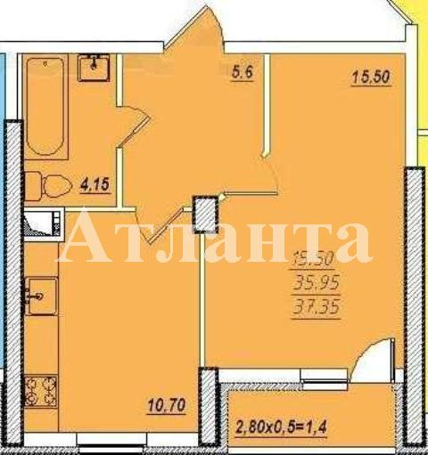 Продается 1-комнатная квартира в новострое на ул. Проценко — 42 000 у.е. (фото №6)