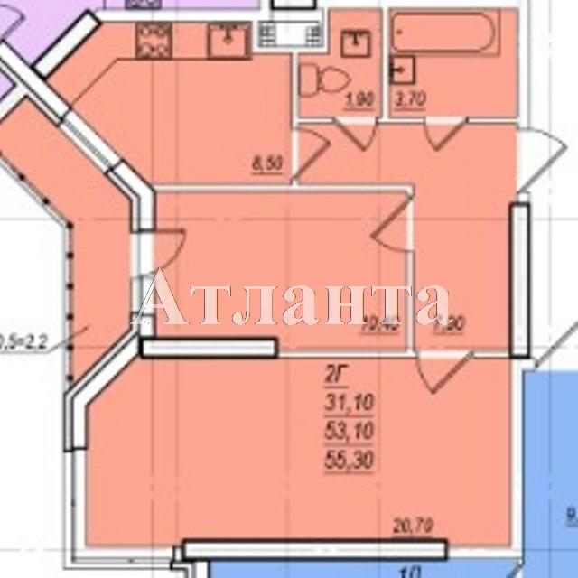 Продается 2-комнатная квартира в новострое на ул. Проценко — 42 000 у.е. (фото №5)