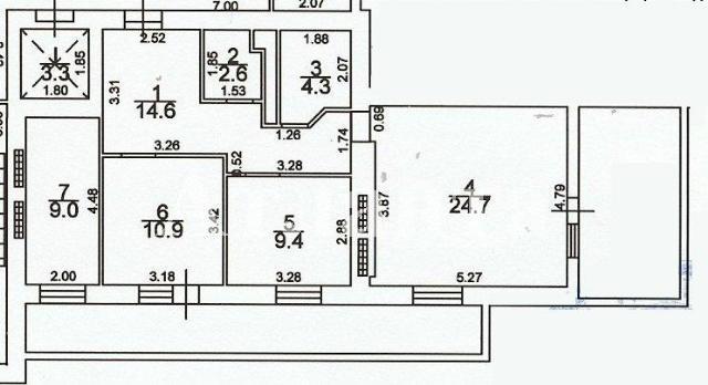 Продается 2-комнатная квартира на ул. Грушевского Михаила — 54 000 у.е.