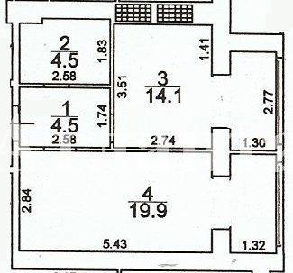 Продается 1-комнатная квартира на ул. Грушевского Михаила — 28 000 у.е.