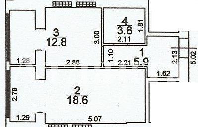 Продается 1-комнатная квартира на ул. Грушевского Михаила — 25 000 у.е.