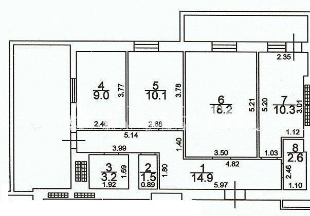 Продается 3-комнатная квартира на ул. Грушевского Михаила — 55 000 у.е.