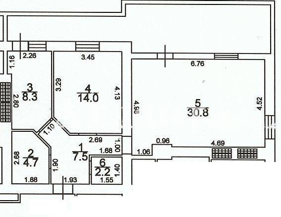 Продается 2-комнатная квартира на ул. Грушевского Михаила — 48 500 у.е.