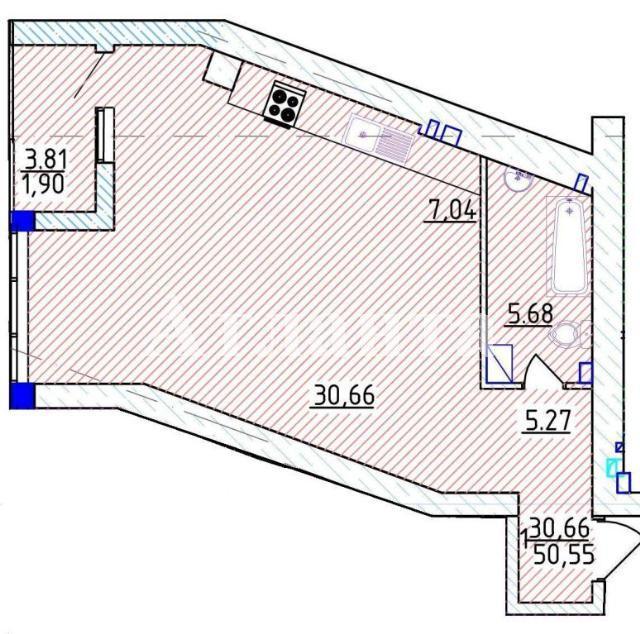 Продается 1-комнатная квартира на ул. Фонтанская Дор. — 101 100 у.е. (фото №4)