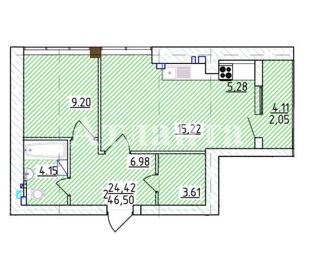 Продается 1-комнатная квартира на ул. Фонтанская Дор. — 71 800 у.е. (фото №3)