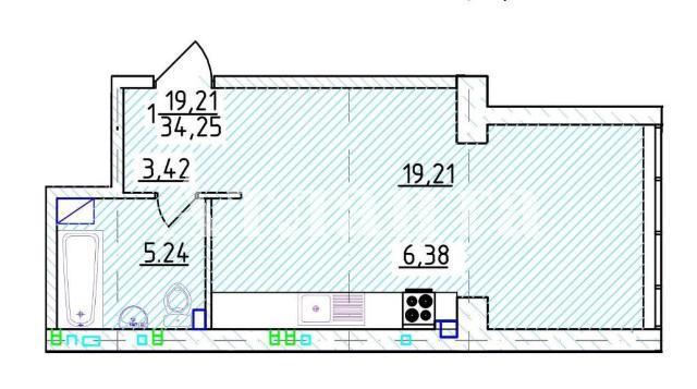 Продается 1-комнатная квартира на ул. Фонтанская Дор. — 52 890 у.е. (фото №4)