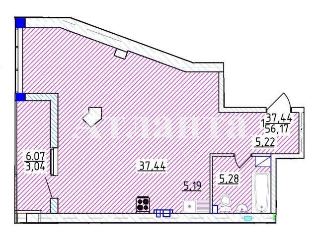 Продается 1-комнатная квартира на ул. Фонтанская Дор. — 97 060 у.е. (фото №3)