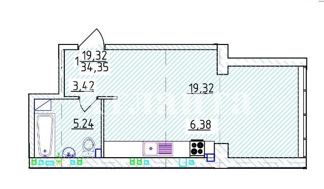 Продается 1-комнатная квартира на ул. Фонтанская Дор. — 53 040 у.е. (фото №3)