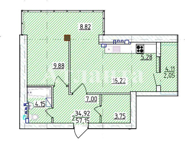 Продается 1-комнатная квартира на ул. Фонтанская Дор. — 88 250 у.е. (фото №3)