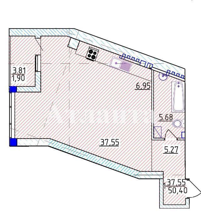 Продается 1-комнатная квартира на ул. Фонтанская Дор. — 87 090 у.е. (фото №3)