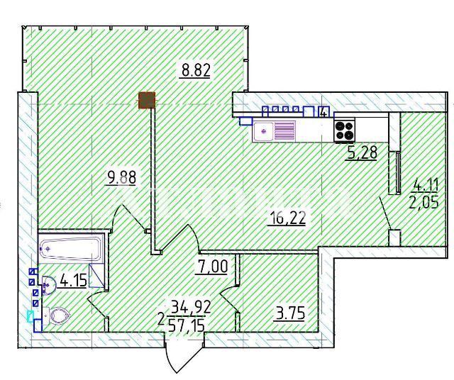 Продается 1-комнатная квартира на ул. Фонтанская Дор. — 97 160 у.е. (фото №4)