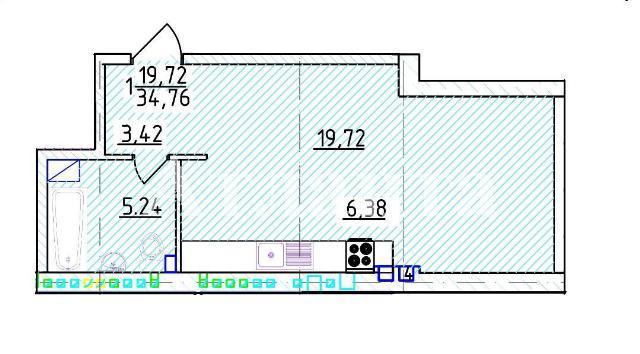 Продается 1-комнатная квартира на ул. Фонтанская Дор. — 58 960 у.е. (фото №4)