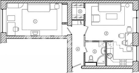 Продается 2-комнатная квартира на ул. Филатова Ак. — 38 000 у.е.