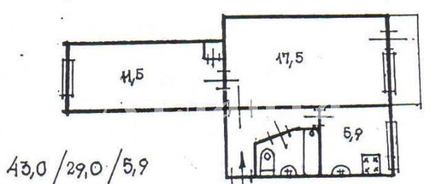 Продается 2-комнатная квартира на ул. Филатова Ак. — 38 000 у.е. (фото №2)