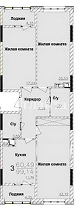 Продается 3-комнатная квартира в новострое на ул. Жемчужная — 82 000 у.е. (фото №4)
