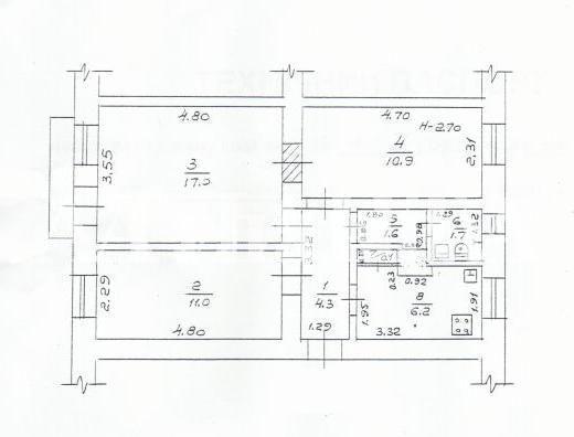 Продается 3-комнатная квартира на ул. Комитетская — 31 000 у.е.