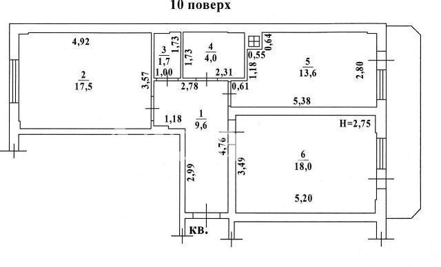 Продается 2-комнатная квартира в новострое на ул. Радужный М-Н — 41 000 у.е.