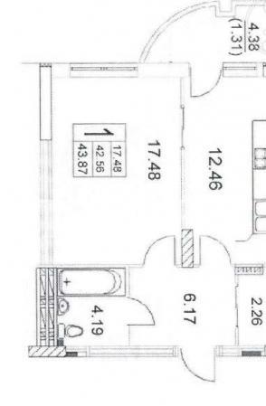 Продается 1-комнатная квартира на ул. Малиновского Марш. — 38 700 у.е. (фото №4)