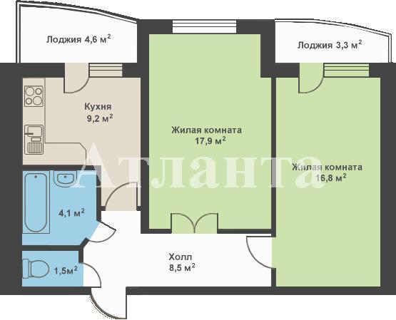 Продается 2-комнатная квартира в новострое на ул. Костанди — 67 000 у.е. (фото №2)