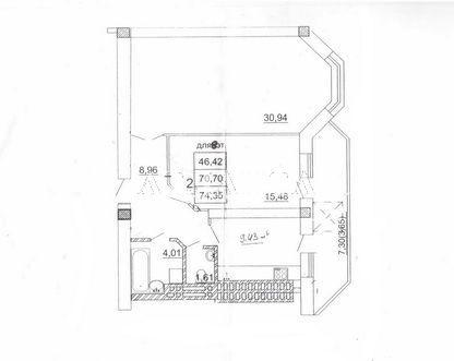 Продается 2-комнатная квартира на ул. Костанди — 72 000 у.е.