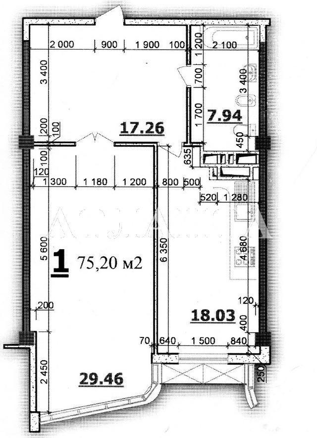 Продается 1-комнатная квартира в новострое на ул. Гагаринское Плато — 70 000 у.е.