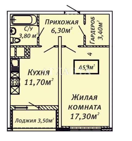 Продается 1-комнатная квартира в новострое на ул. Люстдорфская Дорога — 47 000 у.е. (фото №8)