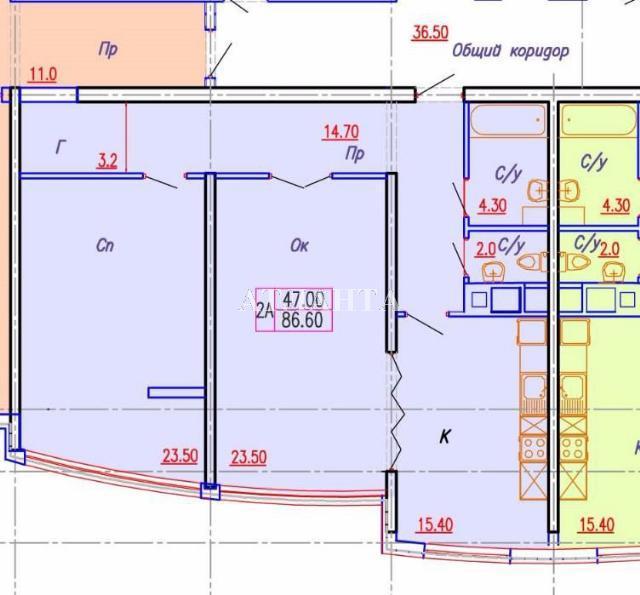 Продается 2-комнатная квартира на ул. Аркадиевский Пер. — 105 000 у.е. (фото №8)