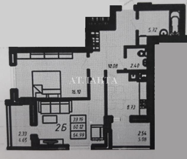 Продается 2-комнатная квартира в новострое на ул. Радужный 2 М-Н — 45 000 у.е.