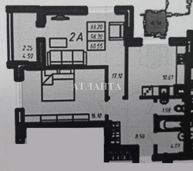 Продается 2-комнатная квартира в новострое на ул. Радужный 2 М-Н — 38 000 у.е.