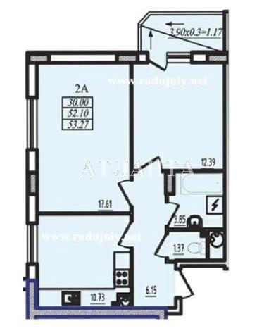 Продается 2-комнатная квартира в новострое на ул. Радужный 2 М-Н — 38 500 у.е.